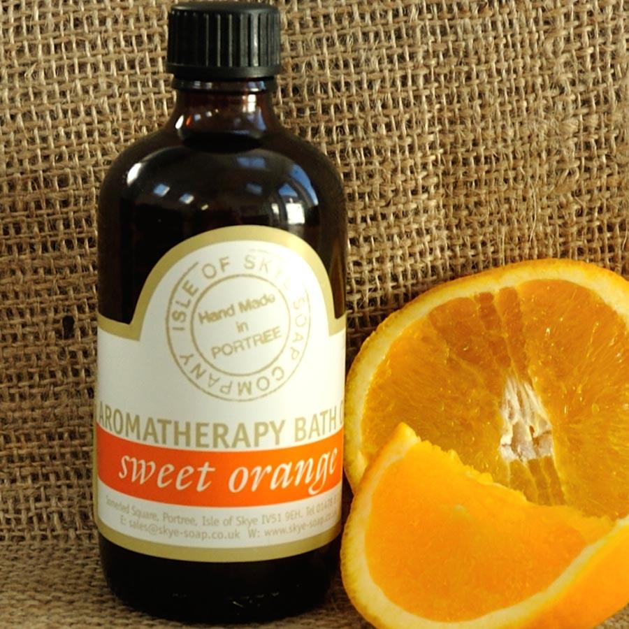 Orange bath oil