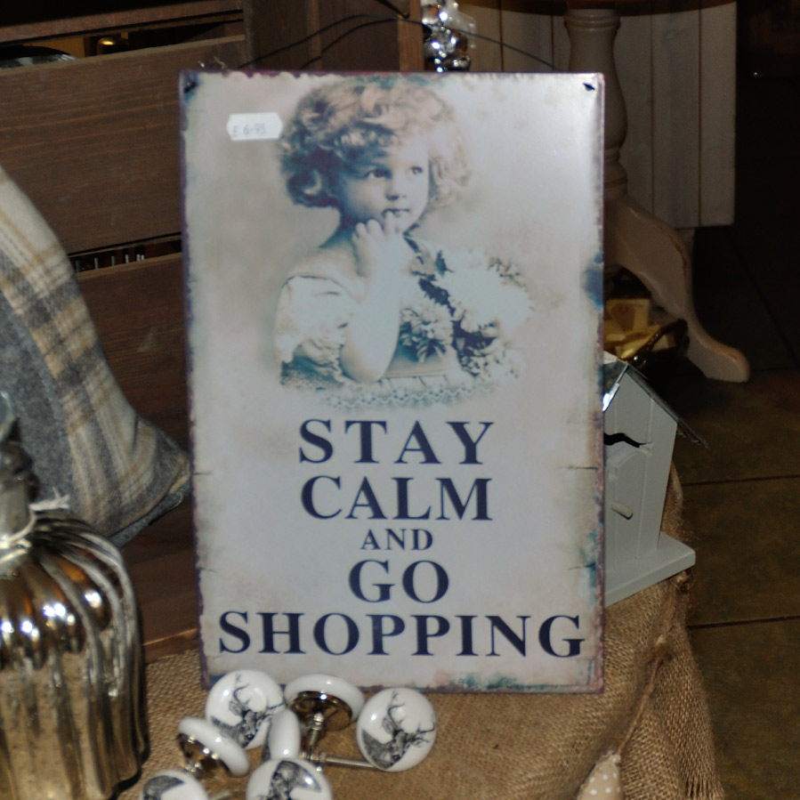 Calm Shopping Sign