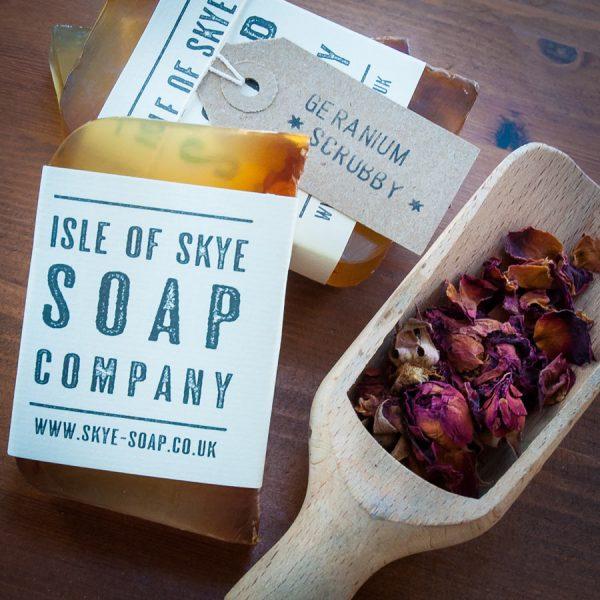 Geranium Scrubby Soap