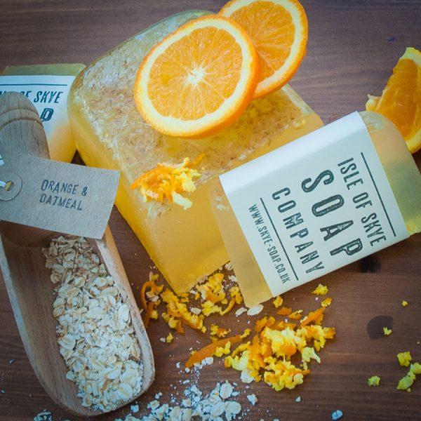 Orange & Oatmeal Scrubby Soap