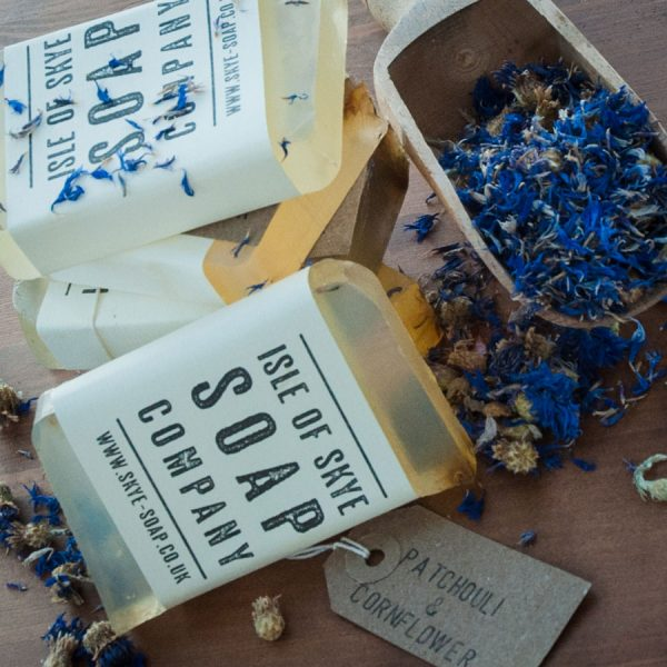 Patchouli & Cornflower Scrubby Soap